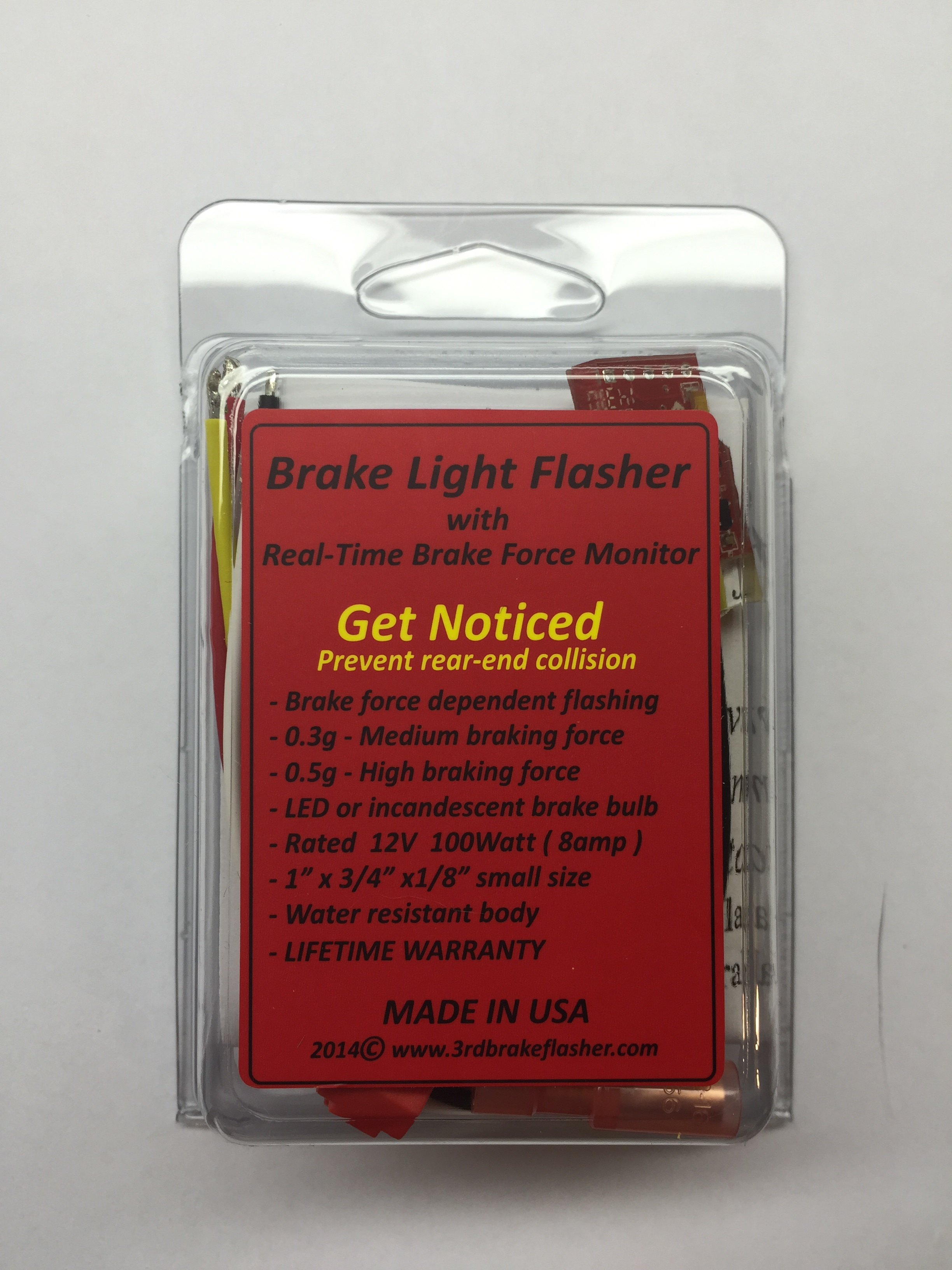 Vehicle Brake Light Flasher Module with brake force monitor - Click Image to Close