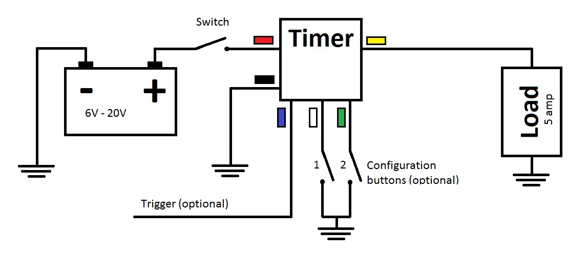 Multi-Functional 5V-20V Time Delay Relay (Timer) 5 amp