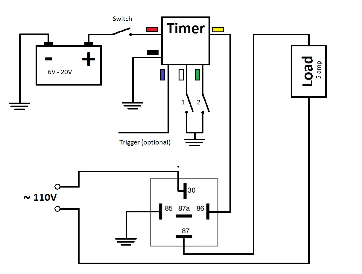 On Delay Timer Wiring Diagram Relay Pdf Electrical Diagrams Multifunctional Off At 3rd Brake Flasher Rh 3rdbrakeflasher Com Schematic Digital Switch 3 Way