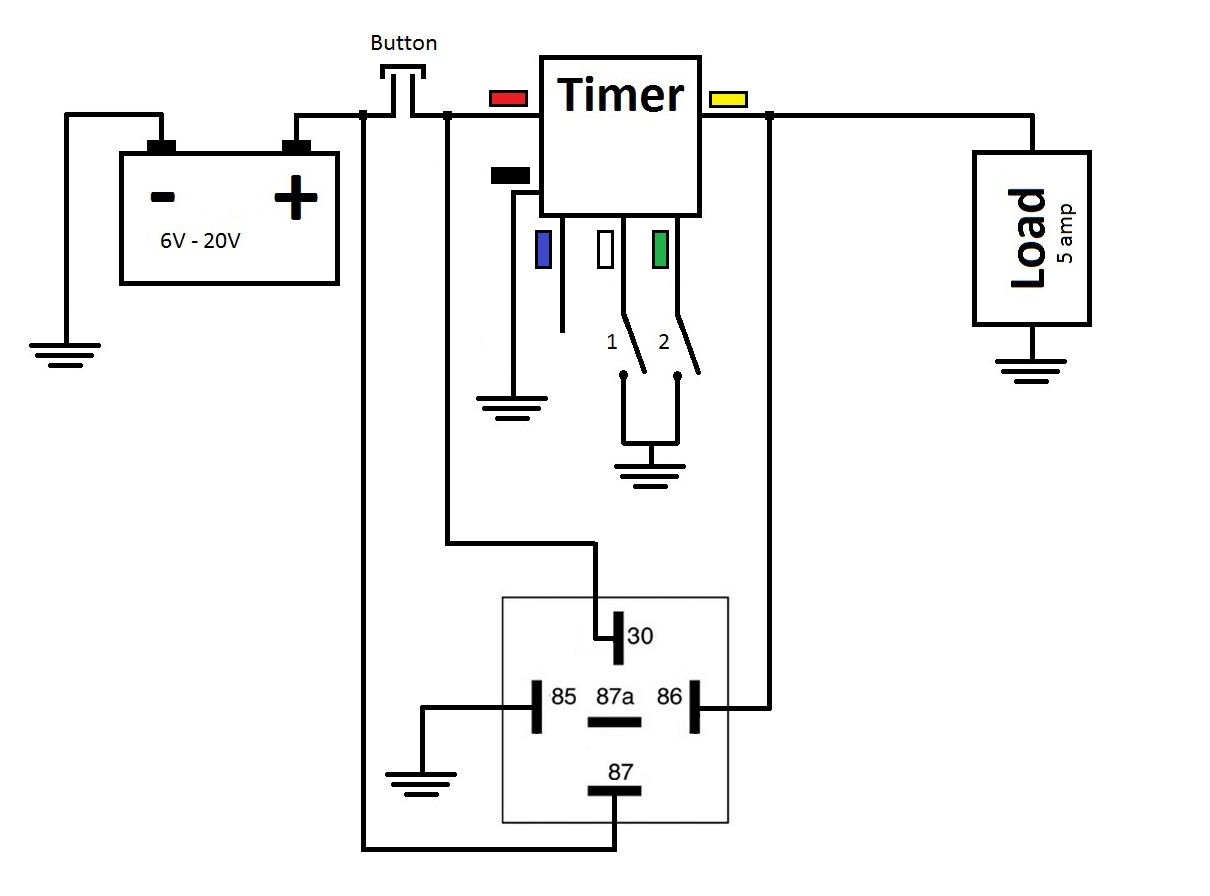 Turn On Delay Circuit Quick Start Guide Of Wiring Diagram Mosfet Dc Motor Drive Http Wwweleccircuitcom 8asolinoid Multifunctional Timer Off Relay At 3rd Brake Flasher 220v Power
